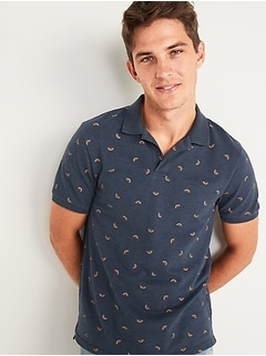 Moisture-Wicking Printed Pro Polo Shirt for Men