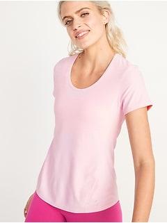 T-shirt Breathe ON Performance avec ouverture en trou de serrure au dos pour femme