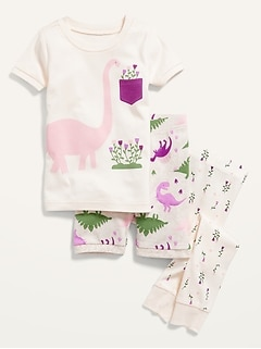 Unisex 3-Piece Pajama Set for Toddler & Baby