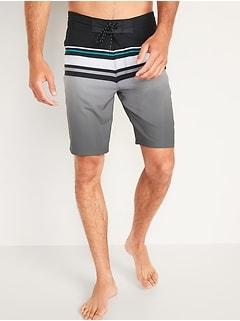 Striped Built-In Flex Board Shorts for Men -- 10-inch inseam