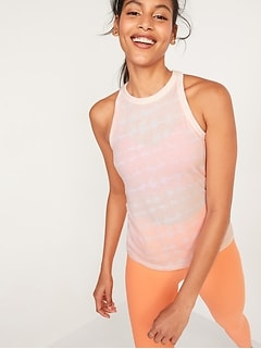 UltraLite Racerback Rib-Knit Performance Tank for Women