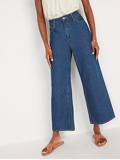 Extra High-Waisted Wide-Leg Jeans for Women