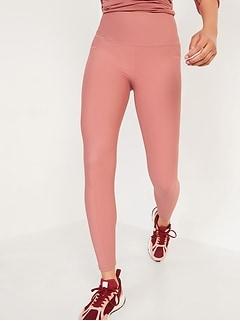 High-Waisted Elevate Powersoft Lattice-Hem 7/8-Length Leggings for Women