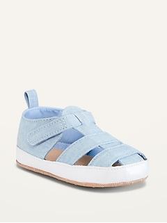 Sandales unisexes en chambray pour Bébé
