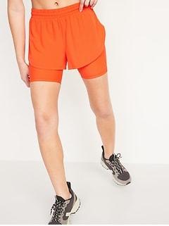High-Waisted 2-in-1 StretchTech Run Shorts + Biker Shorts for Women -- 3-inch inseam