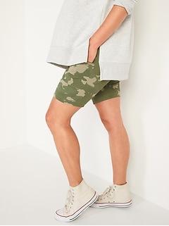Maternity High-Waisted Side-Pocket Biker Shorts -- 9-inch inseam