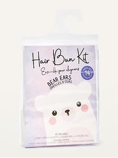 Critter Hair Bun Kit for Kids