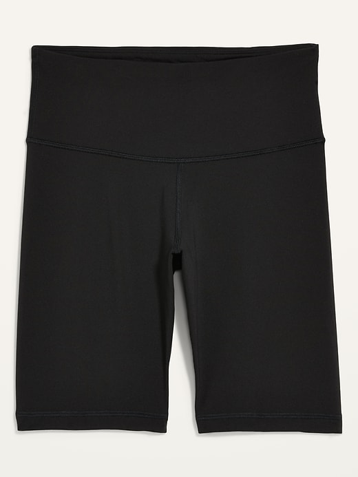 High-Waisted Elevate Compression Biker Shorts for Women - 8-inch inseam