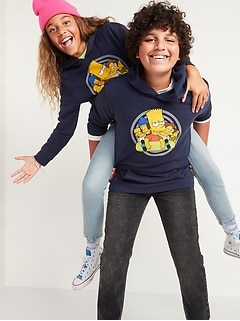 Licensed Pop-Culture Gender-Neutral Pullover Hoodie for Kids