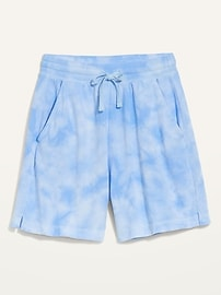 Extra High-Waisted Vintage Tie-Dyed Sweat Shorts for Women -- 5-inch inseam