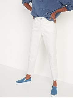 High-Waisted O.G. Straight White Jeans for Women