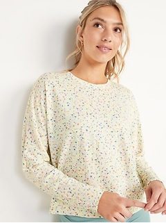 Lightweight Twist-Back French Terry Top for Women