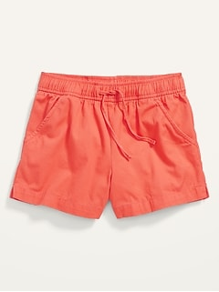 Solid Twill Pull-On Shorts for Girls