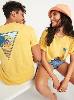 Vintage Garment-Dyed Gender-Neutral Graphic Tee for Adults