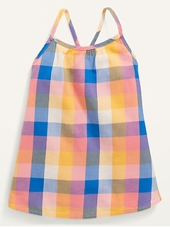 Patterned Sleeveless Swing Top for Toddler Girls