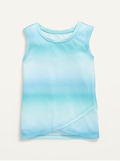 Sleeveless Ombré Pajama Top for Girls