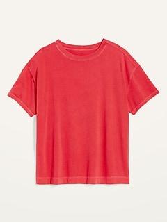 T-shirt rétro ample ras du cou, taille forte