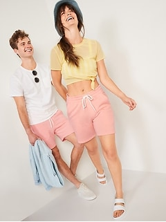 Gender-Neutral Jogger Sweat Shorts for Adults -- 7.5-inch inseam
