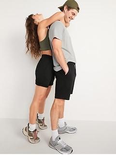 Short d'entraînement à coulisse pour homme, entrejambe de 19cm