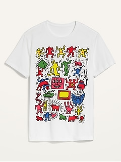 Keith Haring™ Gender-Neutral Graphic Tee for Adults