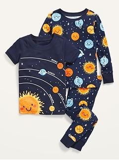 Unisex 3-Piece Graphic Pajama Set for Toddler