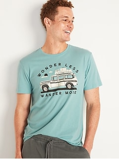 Soft-Washed Crew-Neck Graphic Tee for Men