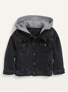 Hooded Jean Trucker Jacket for Toddler Boys