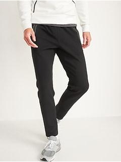Pantalon d'exercice jambe fuselée en molleton dynamique pour homme