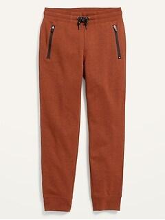 Vintage Gender-Neutral Zip-Pocket Jogger Sweatpants For Kids