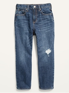 High-Waisted Slouchy Straight Ripped Jeans for Girls