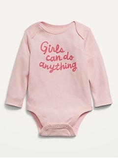 Unisex Long-Sleeve Graphic Bodysuit for Baby