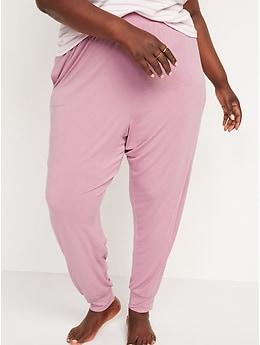 Pantalon de détente à taille haute et fourche basse pour Femme