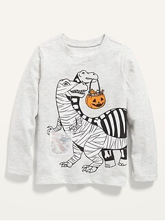 Unisex Long-Sleeve Halloween-Graphic T-Shirt for Toddler