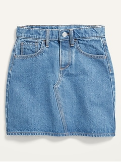 High-Waisted Button-Fly Jean Skirt for Girls