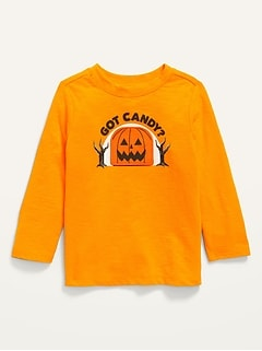 Unisex Lift-Flap Halloween Graphic Long-Sleeve T-Shirt for Toddler