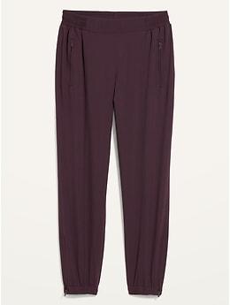 Pantalon d'entraînement doux à taille moyenne à extensibilité quadridirectionnelle pour femme