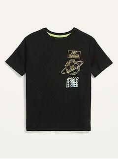 T-shirt Go-Dry en filet à imprimé pour Garçon