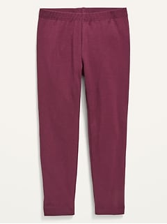 Solid-Color Jersey-Knit Leggings for Toddler Girls