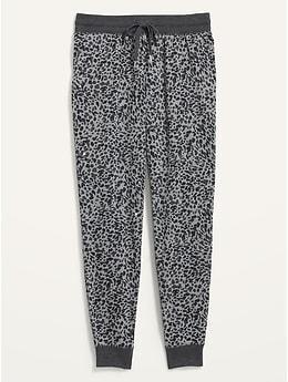 Pantalon d'entraînement fuselé en tissu éponge à taille mi-basse pour femme
