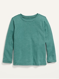 Unisex Solid Long-Sleeve T-Shirt for Toddler