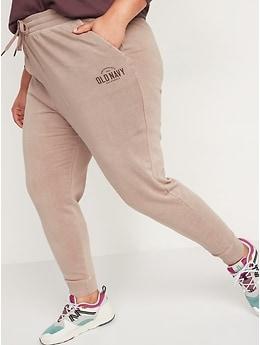Pantalon en coton ouaté à taille mi-basse teint par nœuds avec logo pour Femme