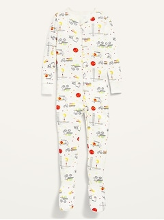 Unisex Printed Snug-Fit Footie Pajama One-Piece for Toddler & Baby