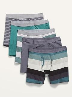 Soft-Washed Boxer Briefs 5-Pack for Men