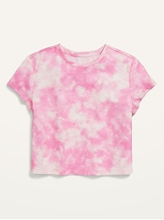 Short-Sleeve Cropped Pajama T-Shirt for Girls