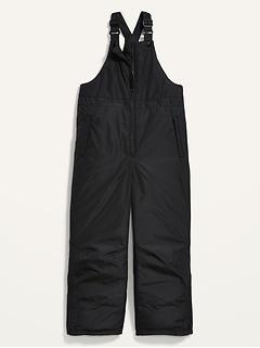 Gender-Neutral Water-Resistant Bib Snowsuit Overalls for Kids