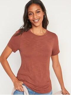 Luxe Slub-Knit T-Shirt for Women