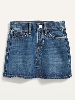 Dark-Wash Jean Skirt for Toddler Girls
