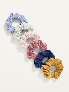 Hair Scrunchies 6-Pack for Girls