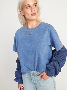 T-shirt confort rétro coupe ample à manches courtes pour Femme