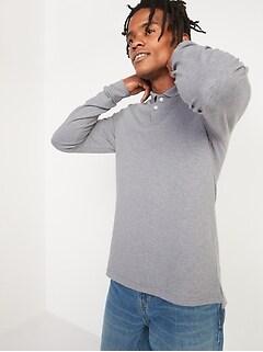Moisture-Wicking Pique Long-Sleeve Pro Polo Shirt for Men
